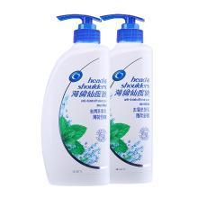 【2瓶】港版海飛絲(Head & Shoulders)薄荷舒爽 去屑洗發水