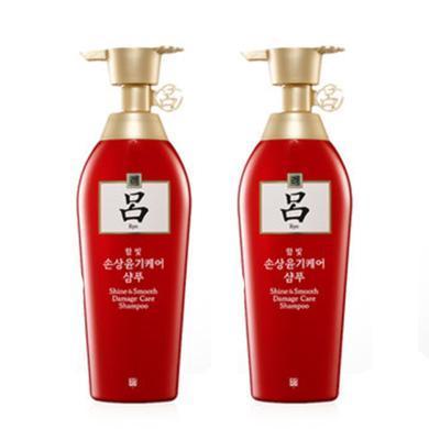 【支持購物卡】2瓶*韓國紅呂洗發水修護損傷蓬松柔順洗發水男女洗發水400ml(香港直郵)