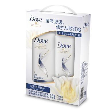 多芬密集滋養修護洗發乳超值套裝(700ml+320ml)