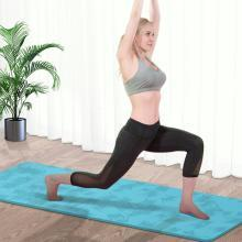 居康瑜伽墊無味初學加長加寬瑜伽防滑墊健身墊多功能運動加厚加寬藍色