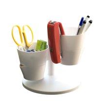 雅客集桌上多功能花盆收纳盒绿色/白色 PA-14087