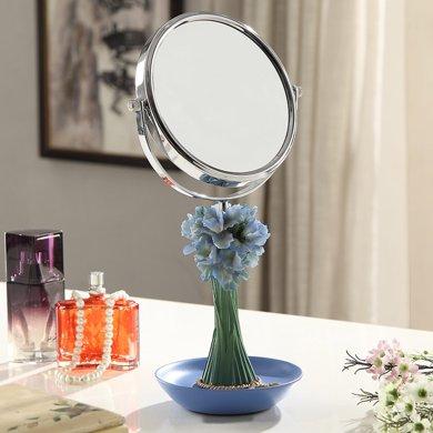 蘭亭雅飾蘭花桌上梳妝鏡LT-15009 桌面放大旋轉化妝鏡