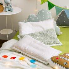 宝缇可水洗机洗生态亚麻儿童枕头吸湿排汗抗菌夏凉枕四季通用低矮枕芯