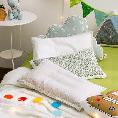 寶緹可水洗機洗生態亞麻兒童枕頭吸濕排汗抗菌夏涼枕四季通用低矮枕芯