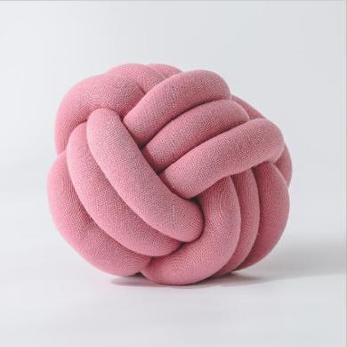 ins爆款 纯手工制作 打结抱枕 个性球型抱枕