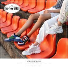 honeyGIRL2018秋季新款网红运动鞋情侣ulzzang原宿厚底老爹鞋子潮HG18SP34-XT902
