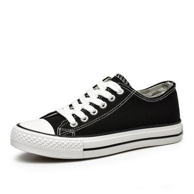 森馬男鞋春季帆布鞋男休閑鞋韓版潮低幫學生板鞋情侶鞋子透氣系帶2122201
