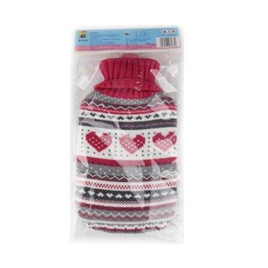 中號橡膠熱水袋(帶毛絨線套)(6037)