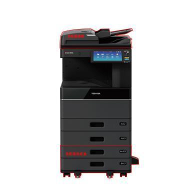 东芝(Toshiba)e-STUDIO4518A A3黑白数码复合机(主机+送稿器+工作台+打印插件+扫描插件+e-ContPort设备管理软件)