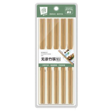 菲爾芙無漆竹筷(240×7.5×4.0mm)