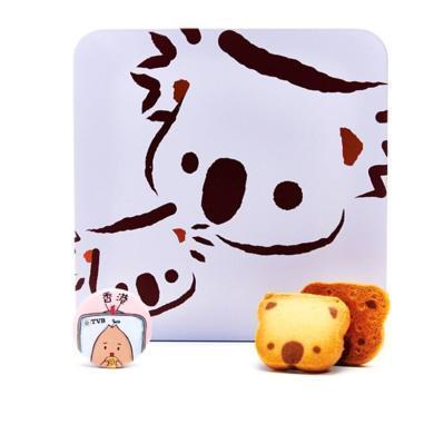香港原裝進口 企鵝曲奇 樹熊曲奇餅干198g鐵盒裝隨機發 禮盒 手工巧克力味餅干