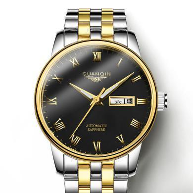 冠琴手表 2020新款瑞士海皮帶全自動機械表 超薄精鋼防水男士腕表