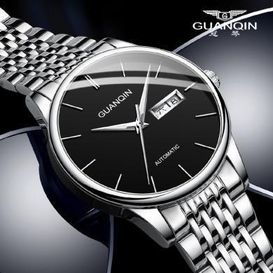 冠琴手表 2020新款男機械表全自動防水鏤空男士手表簡約夜光商務腕表
