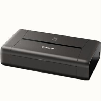 佳能(Canon)IP110便攜式A4彩色噴墨打印機(品牌:佳能幅面:A4顏色:黑色功能:打印耗材類型:墨盒連接方式:無線;USB;移動APP打)