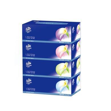 V2055維達藍色經典盒紙(100抽*4盒)