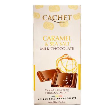 CACHET海鹽焦糖味牛奶巧克力制品(100g)