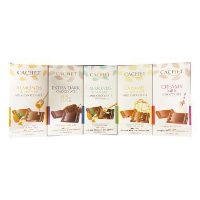 CACHET蜂蜜扁桃仁牛奶巧克力制品(100g)