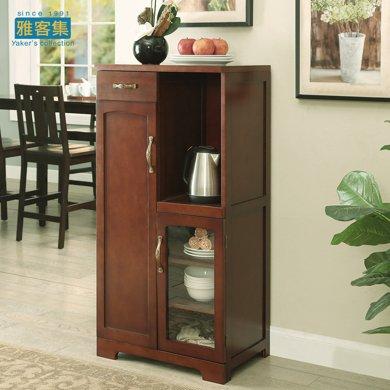雅客集斯蒂芬妮美式实木收纳柜WN-16076WA 美式餐边柜 家用碗柜 办公室储物柜