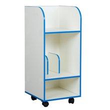 雅客集木質帶剎車輪可移動小書柜智慧之星兒童收納柜 WN-15085 紅藍雙色可選