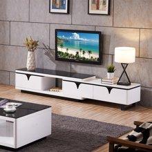 皇家爱慕现代简约客厅钢化玻璃电视柜不锈钢时尚地柜921