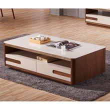 皇家爱慕现代简约客厅钢化玻璃茶几仿木纹时尚茶桌928