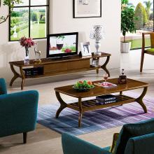 皇家爱慕北欧风格现代简约实木小户型茶几电视柜组合套装客厅成套家具整装