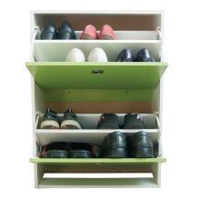 雅客集绿色两门翻斗鞋柜WN-13250 24cm超薄大容量进门鞋子收纳柜