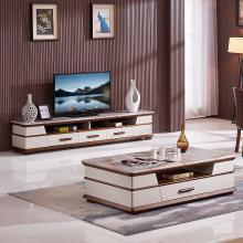 皇家愛慕現代簡約客廳大理石電視柜茶幾時尚地柜033