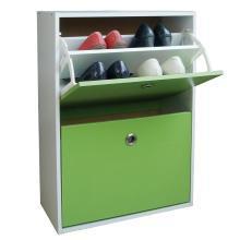 雅客集绿色翻斗两门鞋柜WN-13250 超薄进口鞋子收纳柜