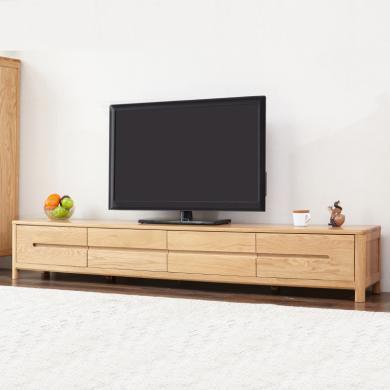 HJMM北欧电视柜 全实木地柜 橡木简约现代大小户型客厅家具地柜