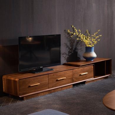 HJMM轻奢?#30340;?#30005;视柜新中式大小户型伸缩电视柜现代简约北欧客厅家具