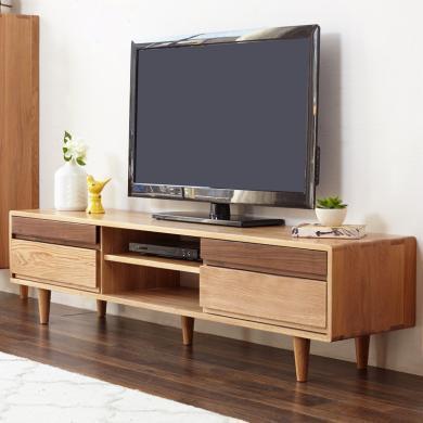 HJMM北歐電視柜 地柜日式純實木電視柜小戶型橡木地柜簡約現代客廳