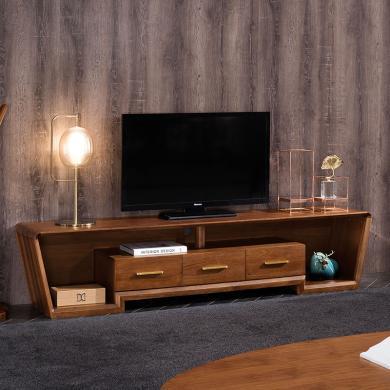 HJMM輕奢實木電視柜新中式大小戶型電視柜現代簡約北歐客廳家具