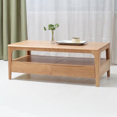 HJMM北歐實木茶幾 橡木時尚簡約小戶型茶桌