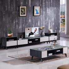 HJMM北欧现代极简电视柜地柜钢化玻璃茶几茶桌2028