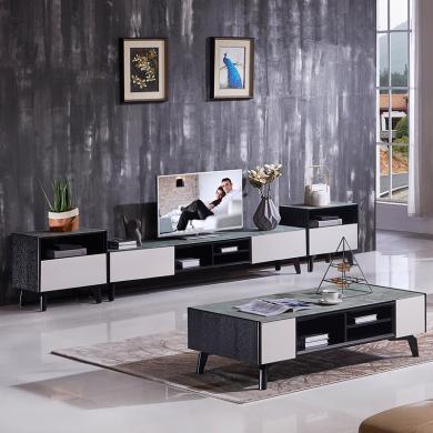 HJMM北歐現代極簡電視柜地柜鋼化玻璃茶幾茶桌2028