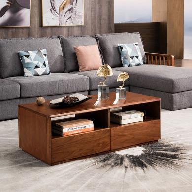 HJMM新中式實木茶幾極簡胡桃木茶桌大小戶型家具