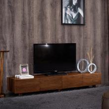 HJMM轻奢?#30340;?#30005;视柜新中式大小户型胡桃木电视柜现代简约北欧客厅家具