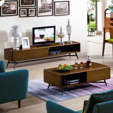 HJMM北欧风格现代简约?#30340;?#23567;户型茶几电视柜组合套装客厅?#21830;?#23478;具整装
