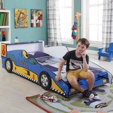 【时尚赛车造型】雅客集洛克蓝色车仔儿童床WN-14151