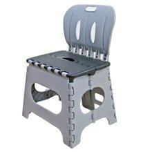 雅客集灰色儿童塑胶折叠椅PA-13029