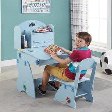 【可升降男孩学习桌学生课桌】雅客集小状元儿童成长书桌WN-13200(蓝色)