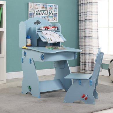 ?#36276;图?#23567;状元儿童成长书桌WN-13200(蓝色) 桌椅套装