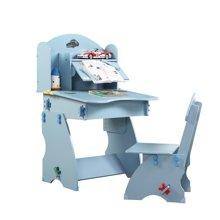 雅客集小状元儿童成长书桌WN-13200(蓝色) 桌椅套装