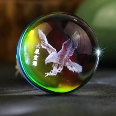 卡飾得 風口香薰 車載固體香水 水晶內雕球 空調出風口香水夾
