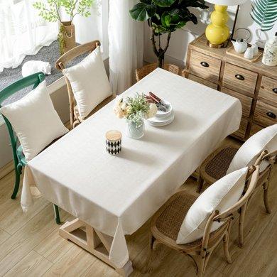 芒更家紡 北歐素雅格調純色系列 竹節麻桌布-小米黃
