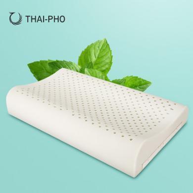 優家工匠直采(THAI-PHO泰凰)乳膠枕泰國原裝進口高低枕芯記憶橡膠枕頭頸椎平滑枕
