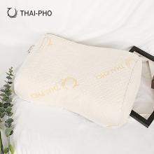 优家工匠直采(THAI-PHO泰凰) 乳胶枕泰国原装进口美容护肩枕芯平滑橡胶枕头颈椎枕