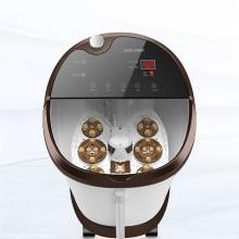 艾斯凱足浴器 全自動洗腳盆加熱電動足底按摩家用足療恒溫泡腳桶足浴盆