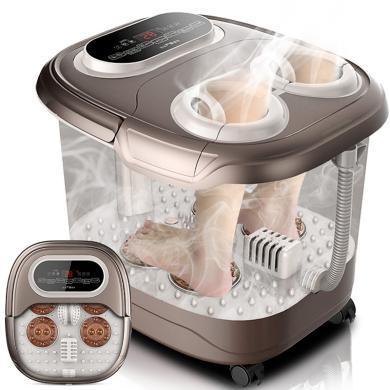 足浴盆全自動洗腳盆電動按摩加熱泡腳桶 熏蒸足浴盆恒溫深桶家用足療機